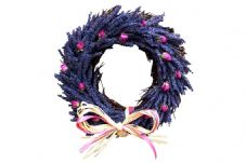 Lavender and Rose Buds Twig Circle (2 sizes available)